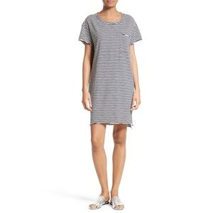 ATM Stripe Slub Jersey Boyfriend Dress | XS